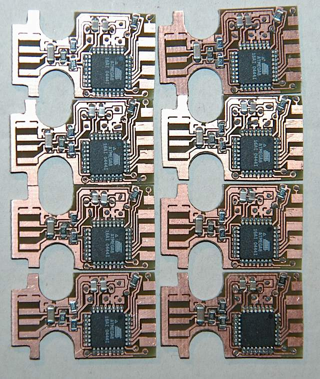 pcb layed elements down